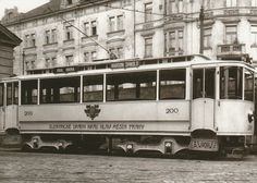 A parlour motor carriage of the Prague Electrical Railway made in 1900