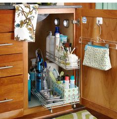 Bathroom Storage Ideas for Small Spaces - Pullout Storage - Click Pic for 42 DIY Bathroom Organization Ideas