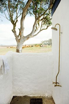 outdoor shower exposed fittings