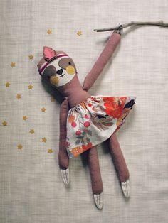 Dainty Cheeks handmade sloth doll https://www.etsy.com/listing/233836628/sweet-sloth-plush