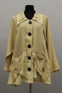 Prisa Collection Berlin Designer Lagenlook Buttoned Pocket Holey Shirt Tunic SZ1 | eBay