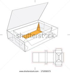 Box with Think Lid, Flip-Flop Lid and Blueprint Layout