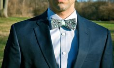 Lauritzen Lace Bow Tie in Mint - Handcrafted in the USA