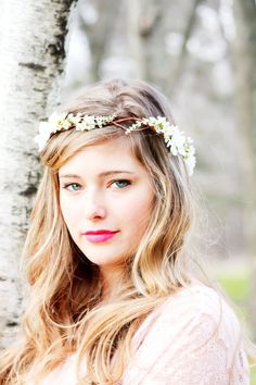 floral wedding headband | Wedding: Bridal Flower hair, wedding accessories, wedding headpiece ...