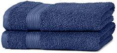 AmazonBasics Lot de 2serviettes de bain résistantes à la décoloration Bleu roi #AmazonBasics #serviettes #bain #résistantes #décoloration #Bleu