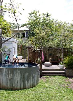 Concrete water tank pool