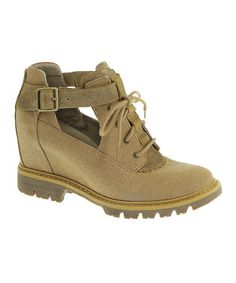 Another great find on #zulily! Golden Brown Helena Ankle Boot by CAT Footwear #zulilyfinds
