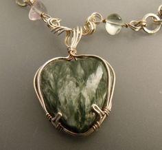 Seraphinite stone from Siberia /  Necklaces - IrenaDesigns.com - Fine Quality Artisan Jewelry