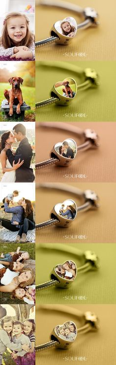 Just select a charm, upload a photo and make that photo a long-lasting piece of jewelry you can wear for years to come. Whatever the photo is about, your wedding/your dog/your baby/your family or the words you like, you can make any picture you like into the charm. Soufeel jewelry, for every memorable day!