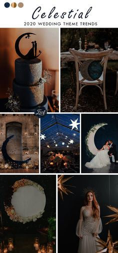 whimsical celestial moon and star theme wedding theme ideas for 2020 Starry Night Wedding, Moon Wedding, Celestial Wedding, Elope Wedding, Dream Wedding, Magical Wedding, Classic Wedding Themes, Timeless Wedding, Wedding Theme Ideas Unique