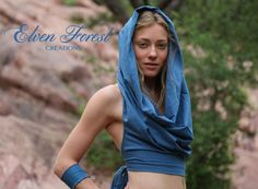 Cowl hood Crop Top by ElvenForest on Etsy