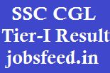 SSC CGL result 2013 tier-I Re-exam results cut-off marks merit list