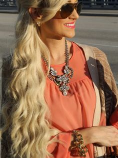 Jade of A Spoonful of Style in our Olivia Crystalline Necklace!