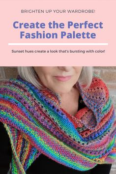 A beautiful and elegant multi-colored shawl. Inspired by the amazing Florida sunset. Look What I Made, Winter Outfits For Work, Knitting Accessories, Knit Fashion, Hand Knitting, Knitwear, Crochet Hats, Sewing, Florida