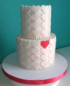heart cake | De Perla's | Tartas fondant personalizadas en Málaga