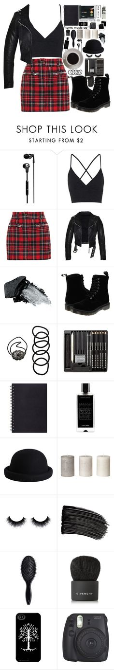 """""""Rocker Chic"""" by xoverbearingxsilencex ❤ liked on Polyvore featuring Skullcandy, Topshop, Filles à papa, Gorgeous Cosmetics, Dr. Martens, Bunn, Wet Seal, Agonist, Pieces and L'Oréal Paris"""