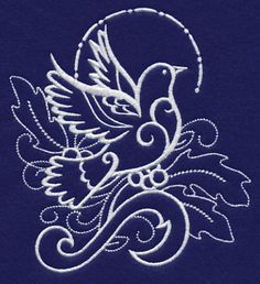 White Christmas Dove of Peace