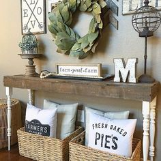 Love the baskets of pillows, grab what you want with a clean place to put them back