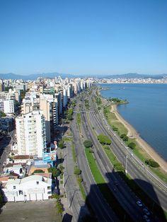 Brasil...  Cidade de Florianópolis; vista aérea da capital de Santa Catarina