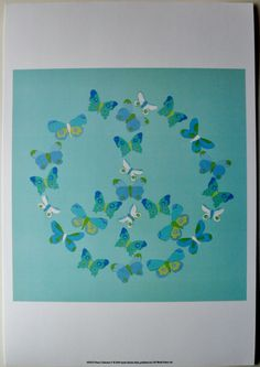 $20.99 Blue Butterflies Insect Teens Art Print, Peace Collection V, by Syeda Mleeha Shah | eBay