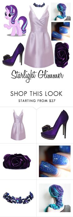 """Starlight Glimmer"" by kacenka-1 ❤ liked on Polyvore featuring Miss Selfridge, Kurt Geiger, WithChic and Christian Lacroix"