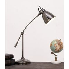 Urban Designs Ronda Graphite Metal Executive Task Table Lamp