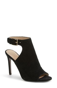 Tory Burch 'Brittania' Peep Toe Suede Bootie (Women) available at #Nordstrom