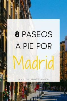 【Spaziergänge in Madrid】】 8 wunderbare Wanderrouten Places To Travel, Travel Destinations, Travel Tips, Places To Visit, Best Hotels In Madrid, Travel Around The World, Around The Worlds, Madrid Travel, Spain
