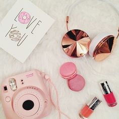 Frendz headphones, macaroons, instax and nail polish...:)