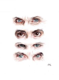 Doctor Who eyes by ChocolatinaChip - All four of the Doctors' eyes from the 9th Doctor to the 12th Doctor. #DoctorWho