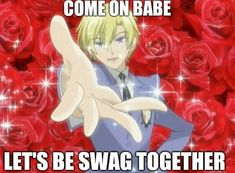 Ouran Host Club, Ouran Highschool, Funny Anime Pics, Pinterest Memes, High School Host Club, Free Therapy, Fb Memes, Cry For Help, Coping Mechanisms