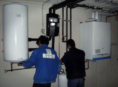 Ejecutando la instalación en la sala de calderas