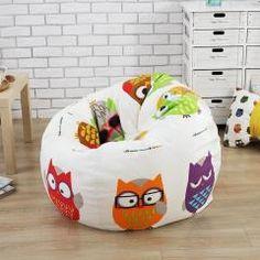 The big owl style Bean Bag Chair Garden Camping Beanbag cover Lazy Sofa Anywhere Portable Sitting Cushion