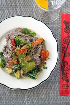 Sesame Soba Noodles with Asian Inspired Dressing