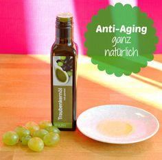 Traubenkernöl gegen Falten & unreine, fettige Haut. Geheimtipp für Anti-Aging bei alle Hauttypen.100% natürlich, mit stärksten Antioxidantien. Anwendung Tipps