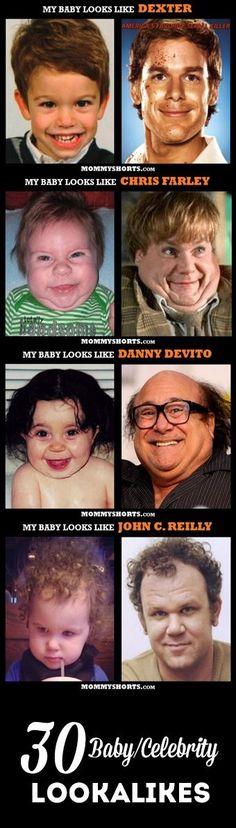 30 hilarious baby/celeb lookalikes