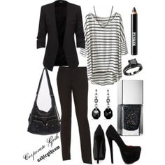 """Corporate Goth"" by ashleythesm on Polyvore                                                                                                                                                      More"