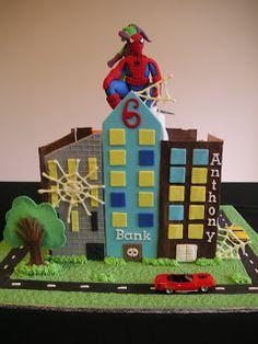 Just call me Martha: Spiderman birthday cake