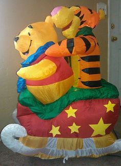 airblown inflatable Tigger Pooh Christmas snow decoration indoor/outdoor w/light Snow Decorations, Tigger And Pooh, Thanksgiving Wishes, Halloween Inflatables, Food Drive, Red Cross, Outdoor Christmas, Bowser, Baby Items
