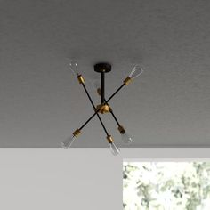 Randall 6 - Light Sputnik Chandelier & Reviews | AllModern Chandelier For Sale, Recessed Lighting, Linear Chandelier, Ceiling Lights, Chandelier Lighting, Modern, Light, Chandelier, Modern Lighting