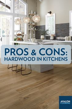 The kitchen is the hub, the literal hot spot of the house. So, it's extremely important to consider all of the flooring options, like hardwood flooring for instance. Hardwood brings a warm and timeless beauty to any space it's installed, but is it right for your kitchen? Weighing the pros and cons will definitely help answer that question correctly—so let's get started!
