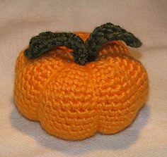 Ravelry: Crocheted Pumpkin Pincushion pattern by Armina Parnagian