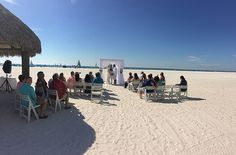 Marco Island Marriott - Beach Wedding - Penthouse Reception #beachceremony #marcoisland #destinationwedding #weddingdj #mikebdjmc