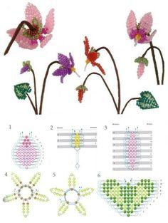 Цикламен из бисера / Цветы / Biserok.org