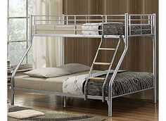 Birlea Nexus Triple Sleeper Silver Bunk Bed The Birlea Nexus triple sleeper is a fantastic bunk bed that will look great in any bedroom. This bunk bed offers a single bed on top and a double bed on the bottom. It has a mesh base and a fixed lad http://www.comparestoreprices.co.uk/bunk-beds/birlea-nexus-triple-sleeper-silver-bunk-bed.asp