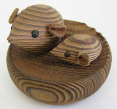 Vintage Mid Century Danish Modern Wood Mice Mouse Paperweight Witco Bojesen Era   eBay