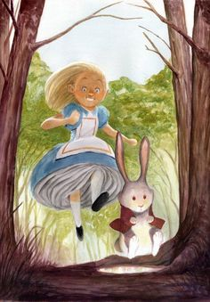 Running Alice par Bobby Chiu- Alice au pays des Merveilles