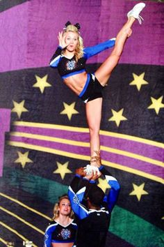 easy cheer stunts for beginners . easy cheer stunts for kids . easy cheer stunts for 3 people . easy cheer stunts for beginners flyers Easy Cheer Stunts, Cheerleading Workouts, Competitive Cheerleading, All Star Cheer, Cheer Mom, Varsity Cheer Uniforms, Great White Sharks Cheer, Carly Manning, Cheers