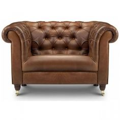 Bamford Chesterfield Leather Armchair - WorldStores