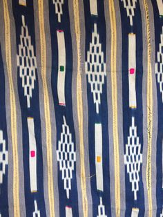 baoule tribal Africa textiles fabric Vintage by ANTIQUERBEADS
